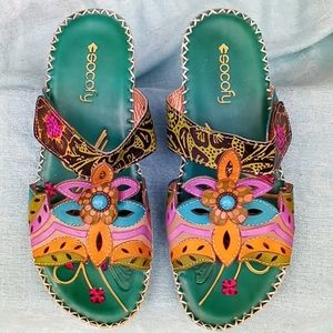 SOCOFY Bohemian leather sandal